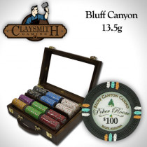Bluff Canyon 300pc Poker Chip Set w/Walnut Case