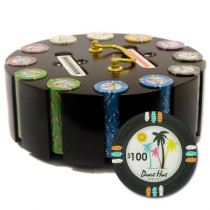 Desert Heat 300pc Poker Chip Set w/Wooden Carousel