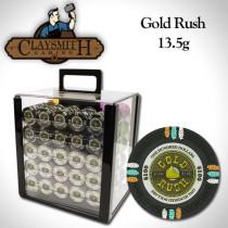 Gold Rush 1000pc Poker Chip Set w/Acrylic Case