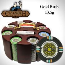Gold Rush 200pc Poker Chip Set w/Wooden Carousel