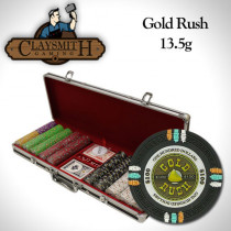 Gold Rush 500pc Poker Chip Set w/Black Aluminum Case