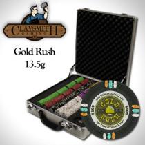 Gold Rush 500pc Poker Chip Set w/Claysmith Aluminum Case