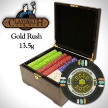 Gold Rush 750pc Poker Chip Set w/Mahogany Case