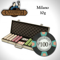 Claysmith Milano 500pc Poker Chip Set w/Aluminum Case