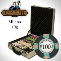 Claysmith Milano 500pc Poker Chip Set w/Claysmith Aluminum Case