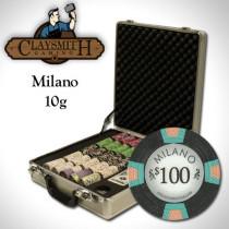 Claysmith Milano 500pc Poker Chip Set w/Claysmith Aluminum Case