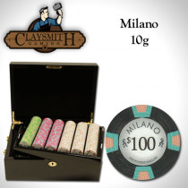 Claysmith Milano 500pc Poker Chip Set w/Mahogany Case