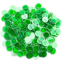 300 Pack Green Magnetic Bingo Marker Chips