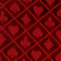 Red Two-Tone Poker Table Speed Cloth - 1 Foot