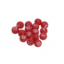 Red Plastic Billiards Tally Ball Set
