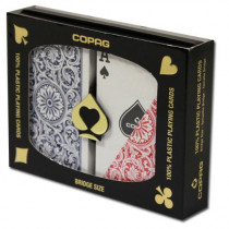 COPAG Plastic Playing Cards, Red/Blue, Bridge Regular