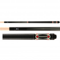 Lucky Pool Cue, L52, Black/Red