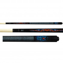 Lucky Pool Cue, L66, Black Neon Tiger