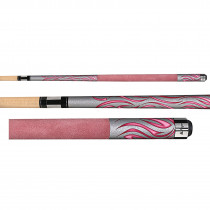 Players F-2780 Flirt Sexy in Suede Pink Women's Pool Cue Stick