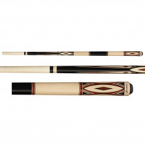 Players G-3394 Black and Tan Rengas Pool Cue Stick