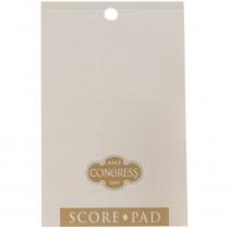 Congress White & Gold Score Pads