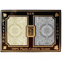 KEM Arrow Black/Gold Plastic Playing Cards