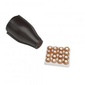Deluxe Leather Tally Bottle and Wooden Kelly Pea Ball Set