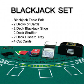 2 Deck Blackjack Dealer Set