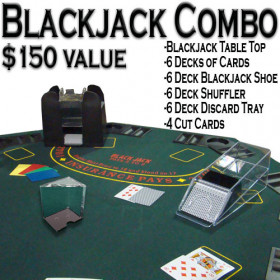 6 Deck Deluxe Blackjack Combo Set
