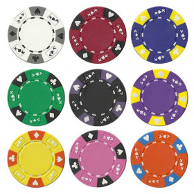 Ace King Suited 14 Gram Poker Chips - Roll of 25