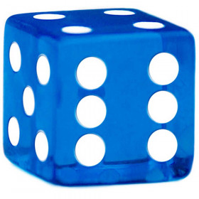 19mm Rounded Corner Dice - Blue