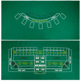 Blackjack and Craps Casino Table Felt