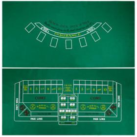 Blackjack and Craps Casino Table Felt