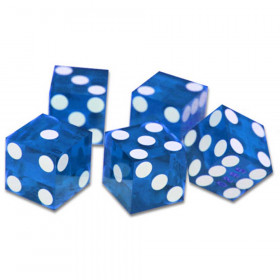 5 Blue 19mm Grade A Precision Dice with Matching Serial #s