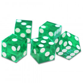 5 Green 19mm Grade A Precision Dice with Matching Serial #s