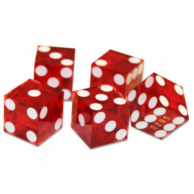 5 Red 19mm Grade A Precision Dice with Matching Serial #s