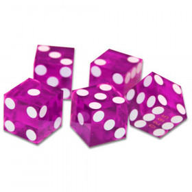 5 Violet 19mm Grade A Precision Dice with Matching Serial #s