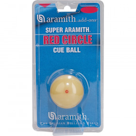 "Super Aramith 2 1/4"" Cast Phenolic Red Circle Cue Ball"
