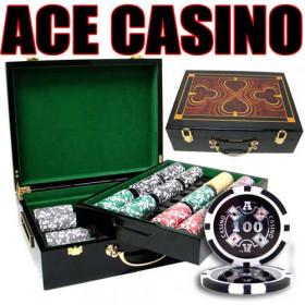 Ace Casino 500pc Poker Chip Set w/Hi Gloss Case