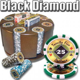 Black Diamond 200pc Poker Chip Set w/Wooden Carousel