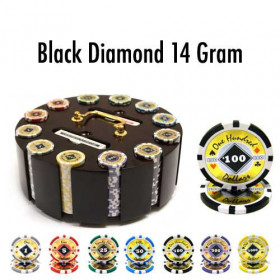 Black Diamond 300pc Poker Chip Set w/Wooden Carousel