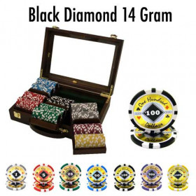 Black Diamond 300pc Poker Chip Set w/Walnut Case