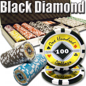 Black Diamond 500pc Poker Chip Set w/Aluminum Case