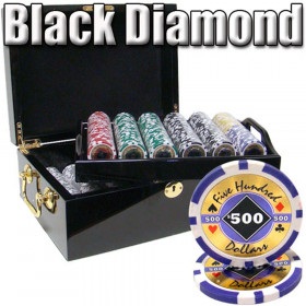 Black Diamond 500pc Poker Chip Set w/Mahogany Case