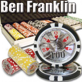 Ben Franklin 500pc Poker Chip Set w/Aluminum Case
