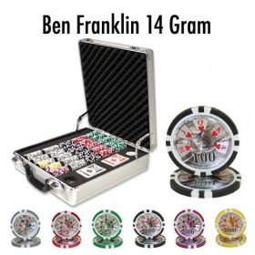 Ben Franklin 500pc Poker Chip Set w/Claysmith Aluminum Case