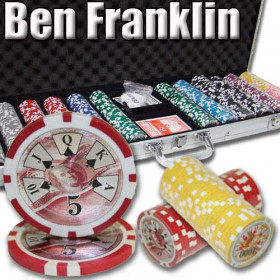 Ben Franklin 600pc Poker Chip Set w/Aluminum Case