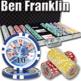 Ben Franklin 750pc Poker Chip Set w/Aluminum Case