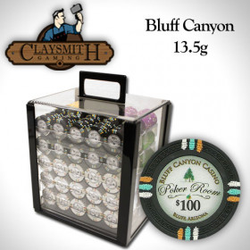 Bluff Canyon 1000pc Poker Chip Set w/Acrylic Case