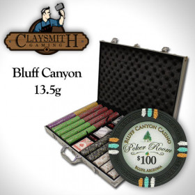 Bluff Canyon 1000pc Poker Chip Set w/Aluminum Case