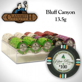 Bluff Canyon 200pc Poker Chip Set w/Acrylic Tray