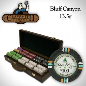 Bluff Canyon 500pc Poker Chip Set w/Walnut Case