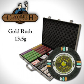 Gold Rush 1000pc Poker Chip Set w/AluminumCase