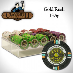 Gold Rush 200pc Poker Chip Set w/Acrylic Chip Tray