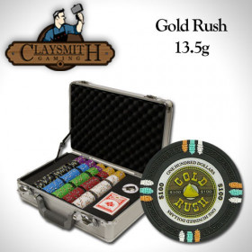Gold Rush 300pc Poker Chip Set w/Claysmith Aluminum Case